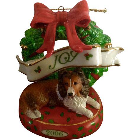 retired danbury mint 2006 sheltie christmas ornament