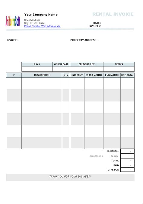 personalf invoice template blank pdf authorizationletters org
