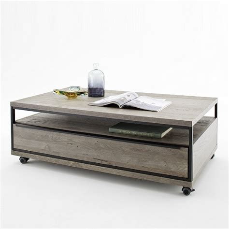 seattle coffee table seattle coffee table in oak and grey with metal