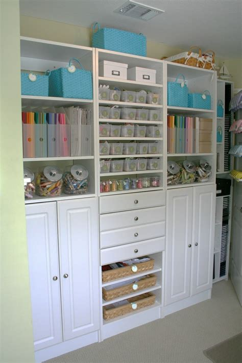 shelving for craft room scrapbook room organization craft rooms
