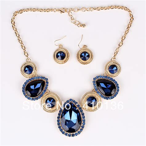pn12539 fashion jewelry sets navy