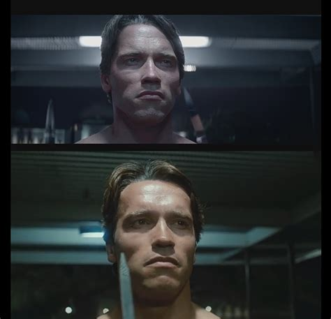 Comparison between Arnold's cgi face in Genisys and ... T 1000000 Terminator