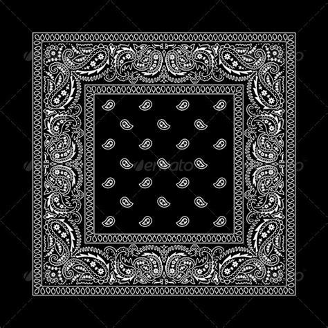 bandana pattern ai bandana 2 black graphicriver