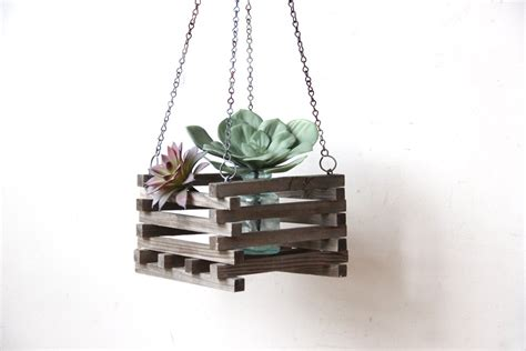 Hanging Wooden Planter Boxes by Hanging Wooden Slatted Planter Box
