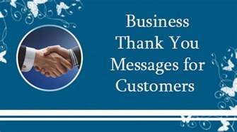 messages from business business thank you messages for customers