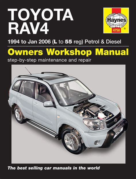 car repair manuals online pdf 2003 toyota rav4 seat position control toyota rav4 petrol diesel 94 jan 06 haynes repair manual haynes publishing