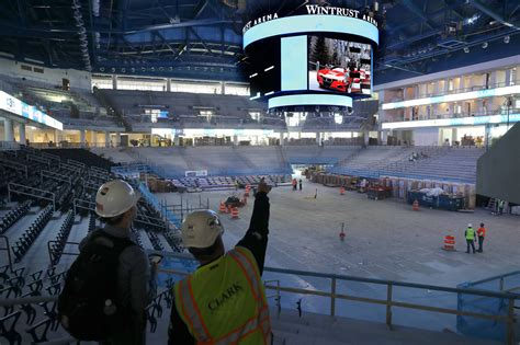 Coach Light Skating Rink by Depaul Sensing Early Excitement About New Wintrust Arena