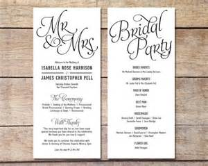Wedding Program Fan Template Simple Wedding Program Customizable Elegant Design Simple Classic Wedding Black And