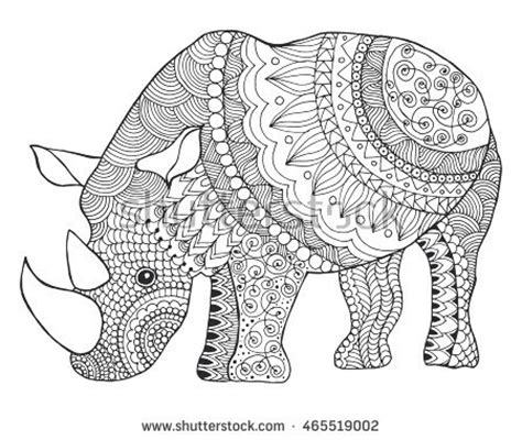 Patterned Animal Coloring Pages by Fox Colour Stock Photos Royalty Free Images Vectors