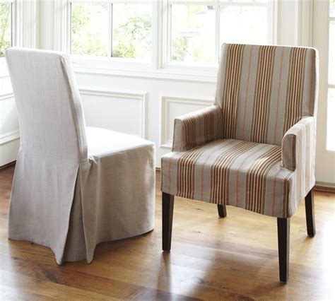 Modern Slipcovers napa chair slipcovers modern dining chairs by pottery barn