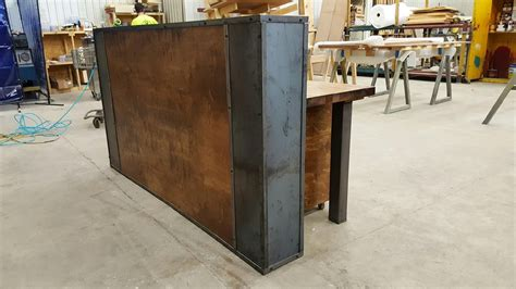 Industrial Reception Desk Buy A Custom Modern Industrial Reception Desk Made To Order From Iron Age Office Custommade