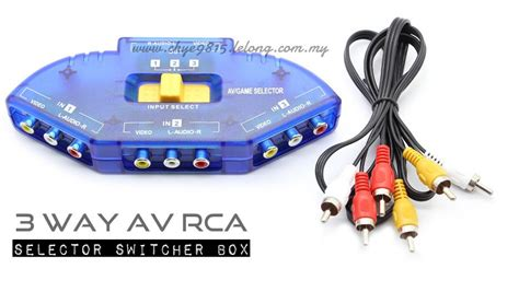 Promo Promo Promo 3 Way Av Switcher Selector Multi Av Switch Merk Suoe 3 way av rca audio selector sw end 1 16 2019 7 15 pm