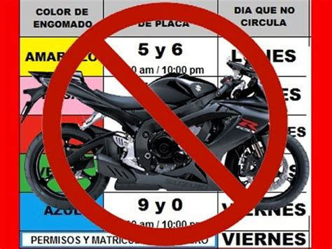 hoy no circula df motocicletas 2016 no al hoy no circula para motos youtube