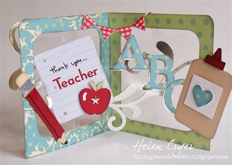 how to make pop up cards for teachers the dining room drawers thank you pop n cuts card