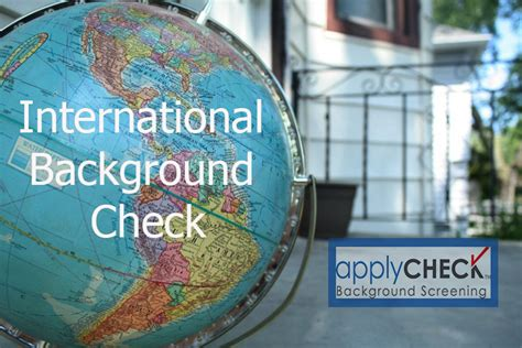 Background Check International Florida International Background Checks Applycheck