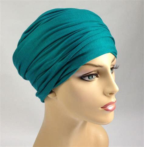 emerald wrap turban chemo scarf jersey