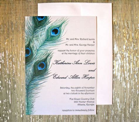 peacock wedding invitations template peacock inspired wedding invitation design invitation