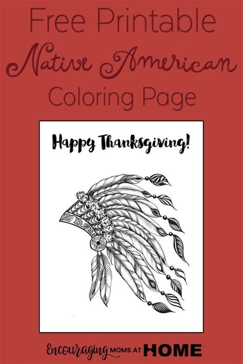 thanksgiving coloring pages indian free printable thanksgiving native american coloring page