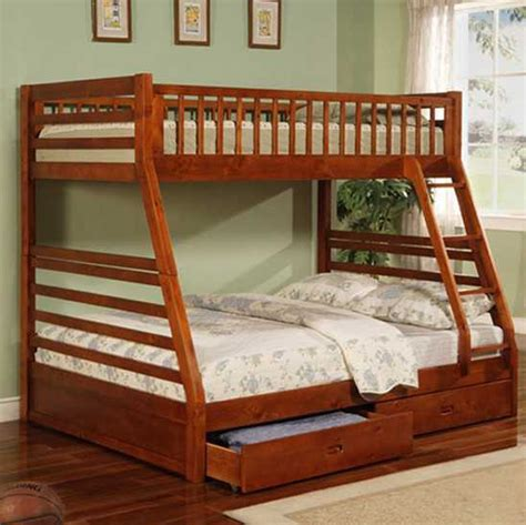 Casual Style Twin Full Bunk Bed Bunk Beds