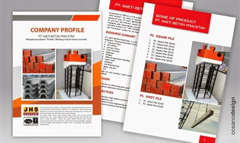 jasa layout majalah jogja company profille pt saeti beton pracetak jasa desain