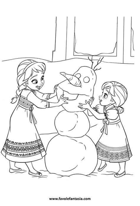 frozen winter coloring pages frozen da colorare favole e fantasia