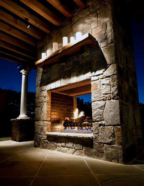 cool outdoor fireplaces 70 outdoor fireplace designs for cool pit ideas