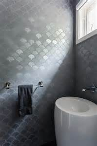 metallic bathroom tiles modern gray bathroom with egg shaped sink modern bathroom