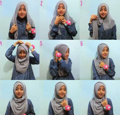 tutorial berhijab jilbab segi empat foto tutorial hijab modern segi empat blog jilbab cantik