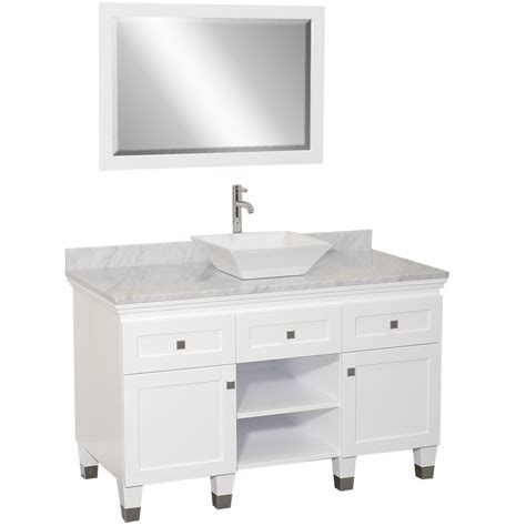 single vanity with vessel 48 quot premiere single vessel vanity white bathgems com