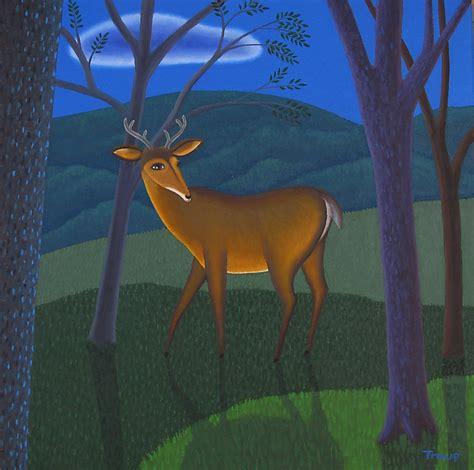 paint nite deer deer by troup painting artful home