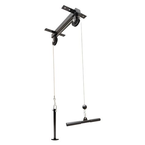 ceiling mounted lat pull cable pulley machine home