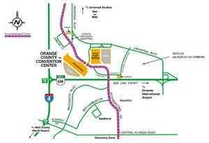 Orlando Convention Center Map by Orange County Convention Center Map Bferryhomes Com