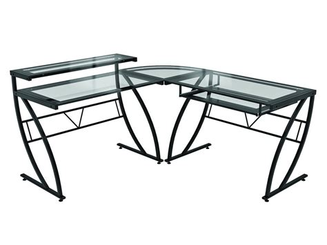 glass gaming desk computer desk guru