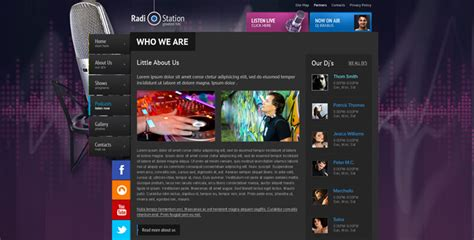 radio template online radio station website template