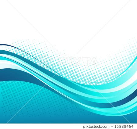 blue wave boats brochure abstract curved lines background template brochure design