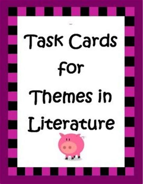 theme in literature songs literature and task cards task cards for themes for 4th 5th grade the o jays