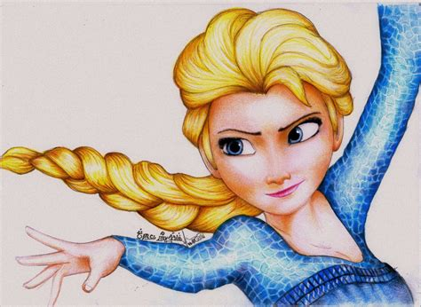 Princess Elsa From Frozen By Amandabloom On Deviantart Princess Elsa Drawing
