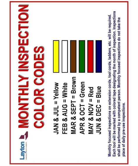 osha color codes osha cord color chart photos chart in the word