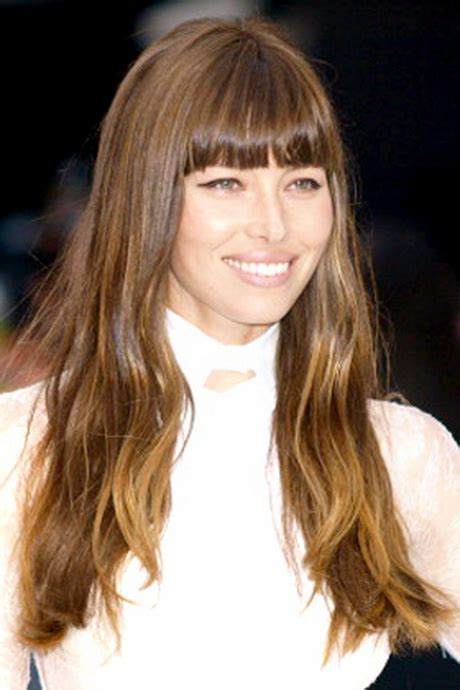 hairstyles with blended bangs best layered haircuts for long hair