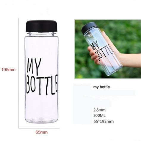 Botol Minum Plastik Bening Juice Lemon My Bottle 500ml Pink F348 botol minum plastik bening juice lemon my bottle 500ml
