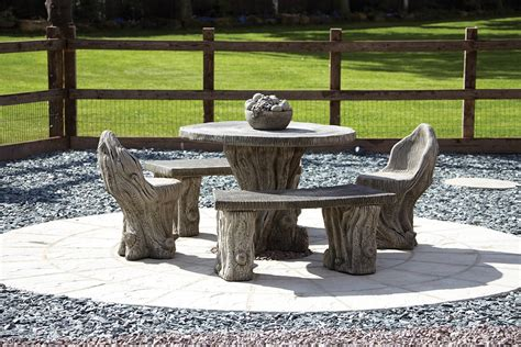 stone benches outdoor garden furniture woodlands stone benches table patio
