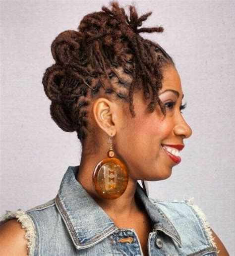 short dread pin downs and pin ups curlynugrowth short medium length loc style locs