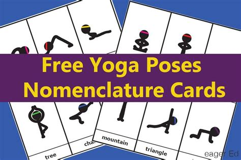 printable yoga cards free y is for yoga poses montessori style nomenclature cards