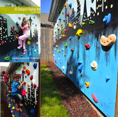 backyard rock climbing wall diy outdoor rock climbing wall do it yourself fun ideas