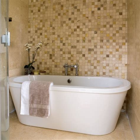 mosaic feature wall bathrooms bathroom ideas image