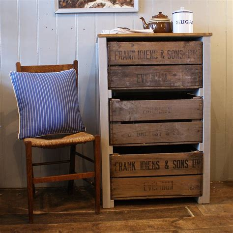 vintage apple crate storage unit by hunter jones vintage