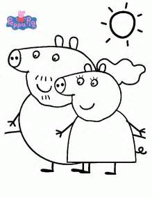 peppa pig coloring pages coloringpagesabc