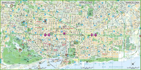 printable map barcelona city centre maps update 30722069 barcelona city map tourist