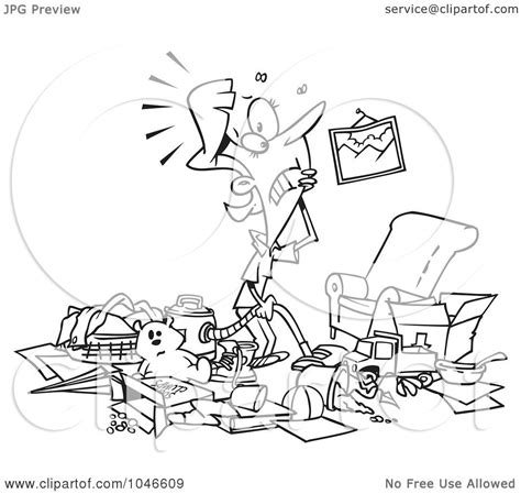 messy house coloring page royalty free rf clip art illustration of a cartoon black