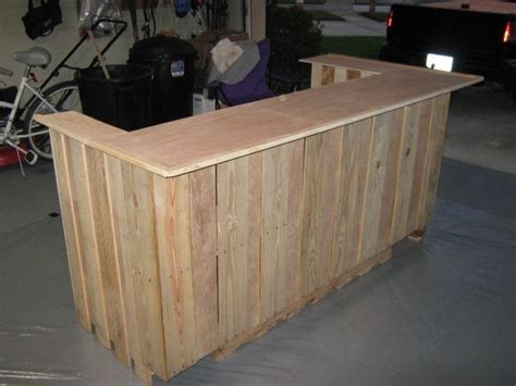 how to make a bar top out of wood how to build a tiki bar out of pallets woodworking